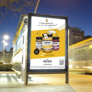 Création de campagne d'affichage pour Reine de Dijon