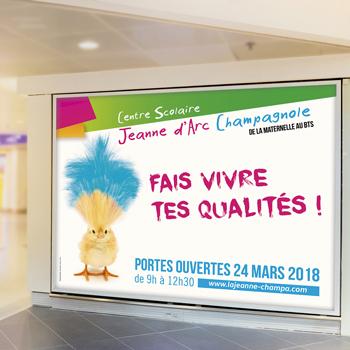 Création d'une campagne d'affichage pour le CFA La Jeanne
