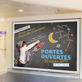 Création de campagne d'affichage pour le lycée Jeanne d'Arc