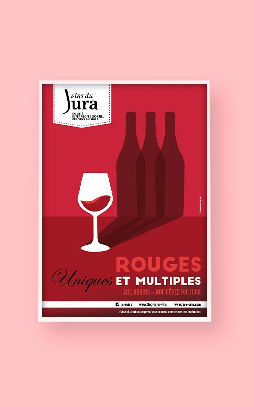 création d'une affiche pour les vins du Jura
