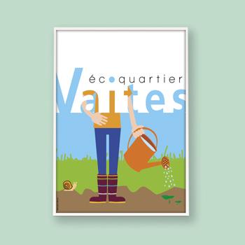 Création d'une affiche pour l'éco-quartier des Vaites à Besançon