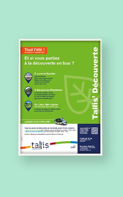 Création d'une affiche pour Tallis