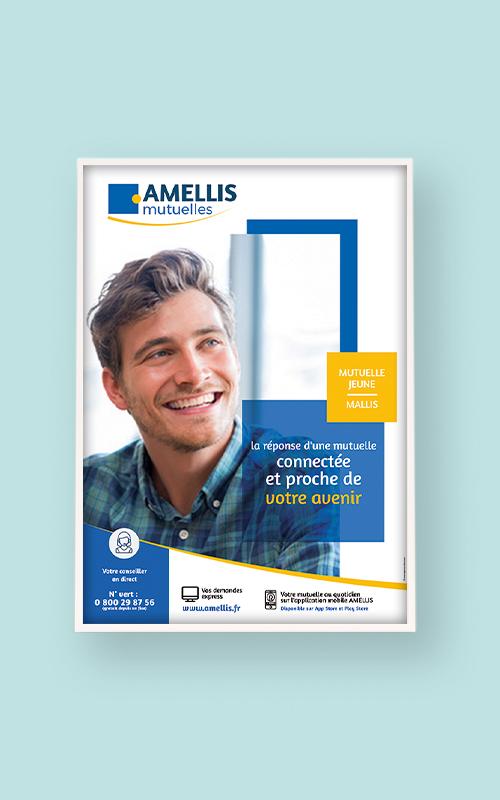 Création d'une affiche pour Amellis Mutuelle