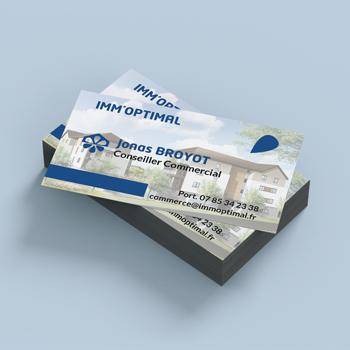 Création de carte de visite pour IMM'OPTIMAL