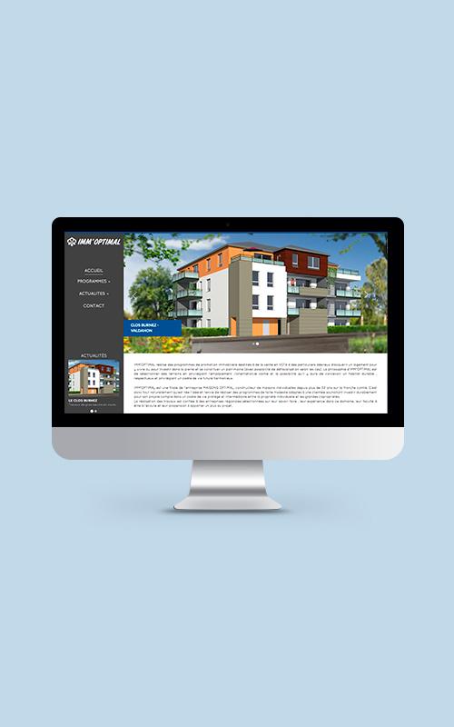 Création d'un site web pour Imm'optimal
