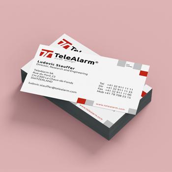 Création de cartes de visites pour Téléalarme