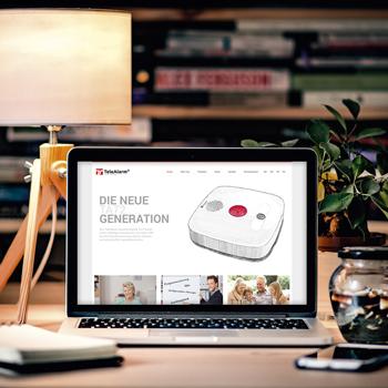 Création d'un site internet pour Téléalarme