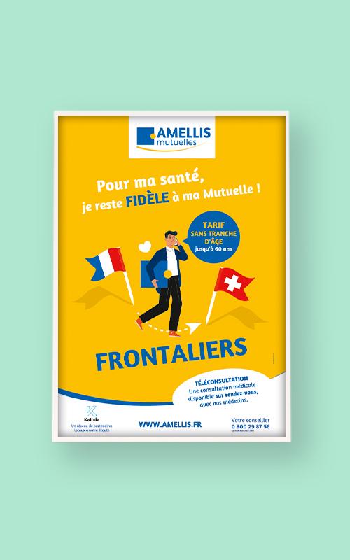Création de campagne publicitaire pour AMELLIS Mutuelles