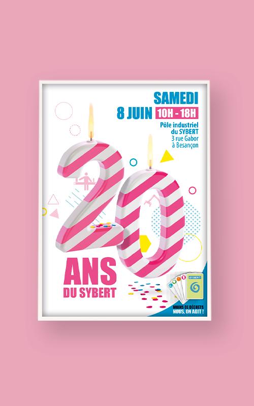 Création d'une affiche pour les 20 ans du SYBERT