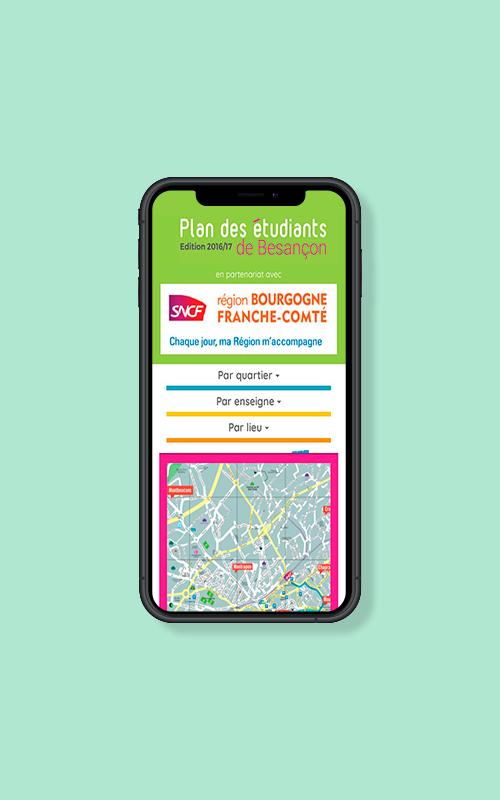 Création d'une application mobile pour le Plan des étudiants de Besançon