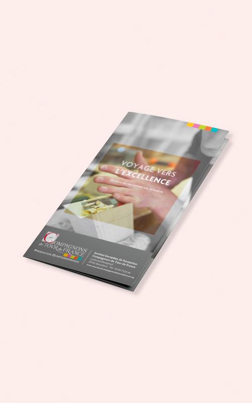Création d'une brochure pour les Compagnons du Tour de France