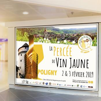 création d'un affichage pour la Percée du Vin Jaune