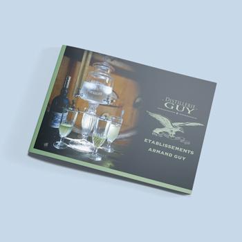 Création d'un catalogue produit pour la distillerie Guy