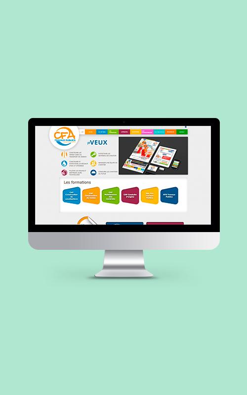 Création d'un site internet pour le CFA des Travaux Publics de Franche-Comté