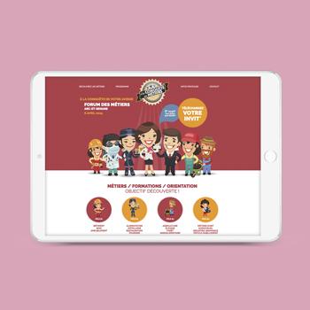 Création d'un site internet pour la Chambre des Métiers