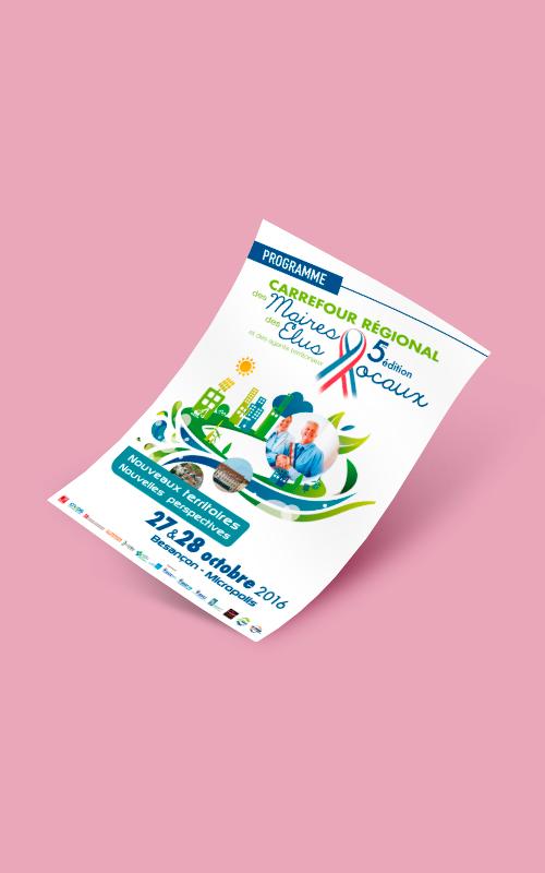 Création d'un flyer pour le Carrefour régional des maires et des élus locaux