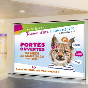 Création d'une affiche publicitaire pour le Centre Scolaire Jeanne d'Arc