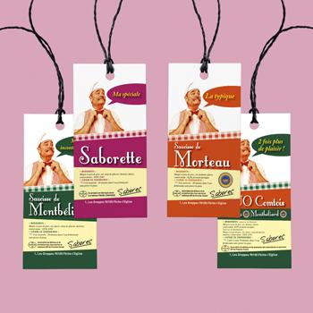 Création d'étiquettes pour Saborec