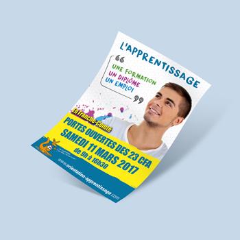 Création d'une affiche / flyer pour les Recontres de l'apprentissage en Franche-Comté