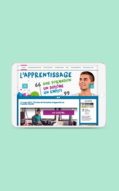 Création d'un site internet pout le groupement des CFA de Franche-Comté