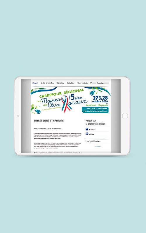 Création d'une landing page pour Carrefour régional des maires et des élus locaux