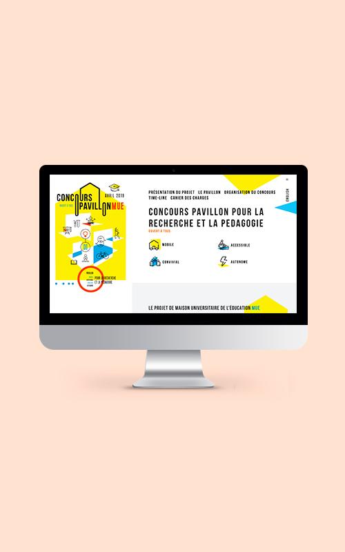 Création d'une landing page pour le concours Pavillon MUE