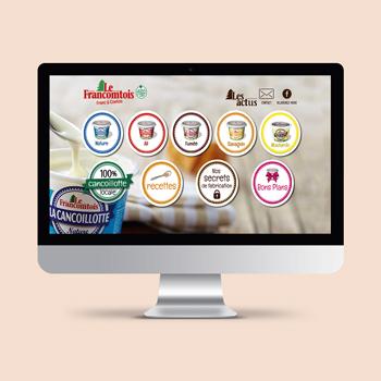 Création d'un site internet pour la fromagerie Milleret