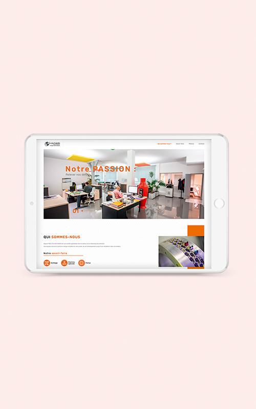Création d'un site internet pour l'établissement COUTURIER