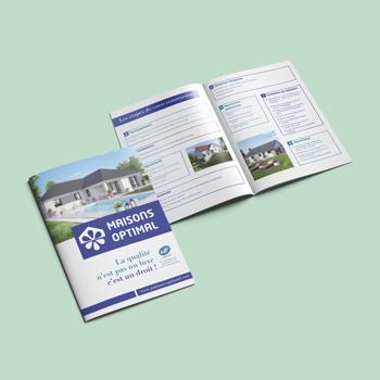 Création d'un livret de présentation pour les les maisons Optimal