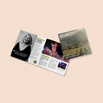 Création d'un magazine pour Nièvre Mag