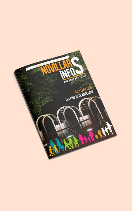 Création d'un magazine pour Novillars Info