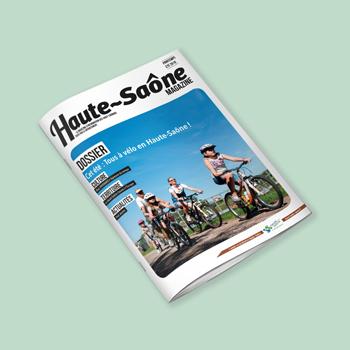 Création d'un support magazine pour la Haute Saône