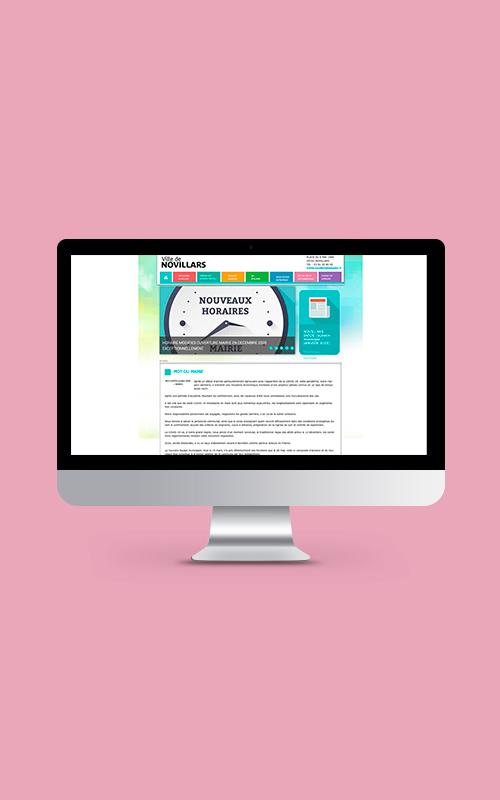 Création d'un site internet pour la ville de Novillard