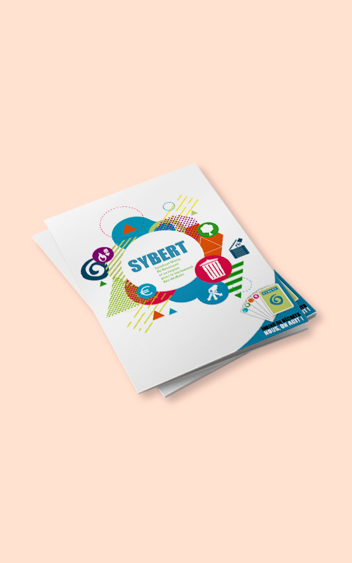 Création d'une plaquette publicitaire pour le SYBERT