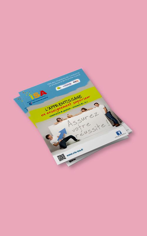 Création d'une pochette à rabats pour la CCI de Franche-Comté