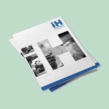 Création d'une pochette à rabats pour la société IH