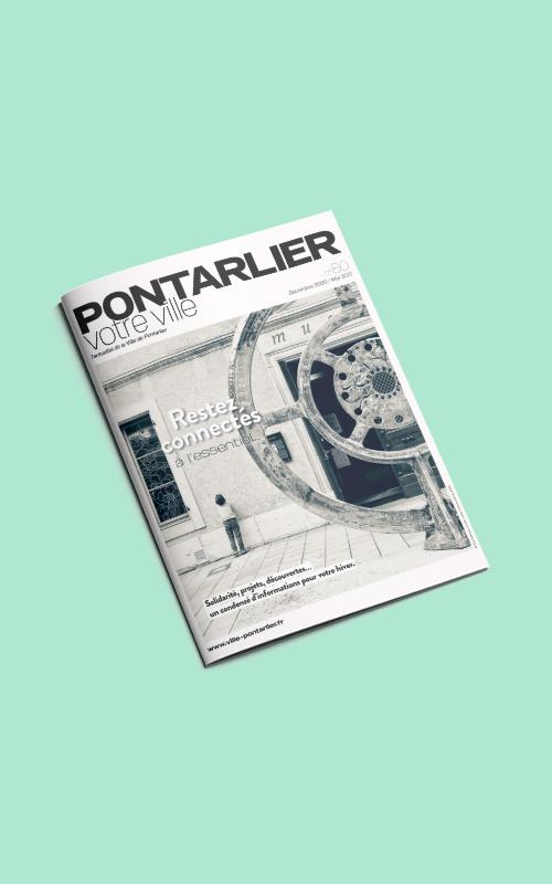 Vente d'encarts publicitaires pour le magazine Pontarlier Votre Ville