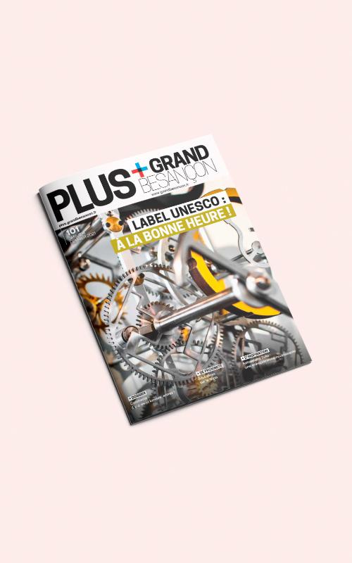 Vente d'encarts publicitaires pour le magazine Grand Besançon