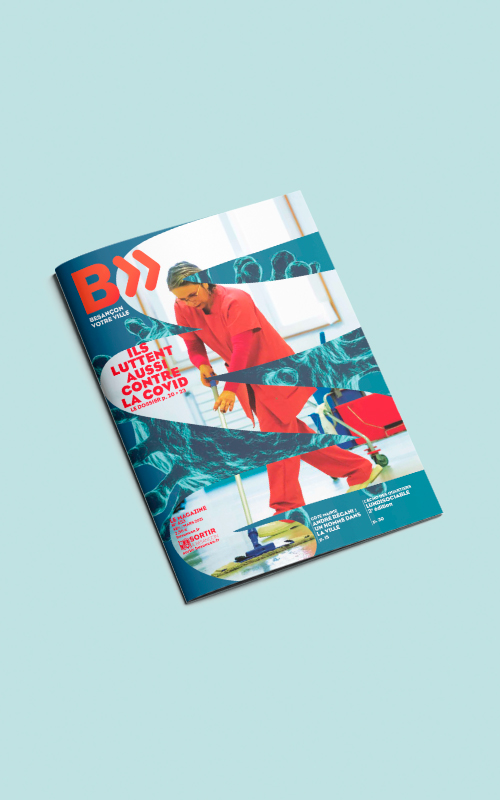 Vente d'encarts publicitaires pour le magazine Besançon Votre Ville