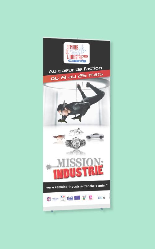 Création d'un roll-up pour la Semaine de l'industrie