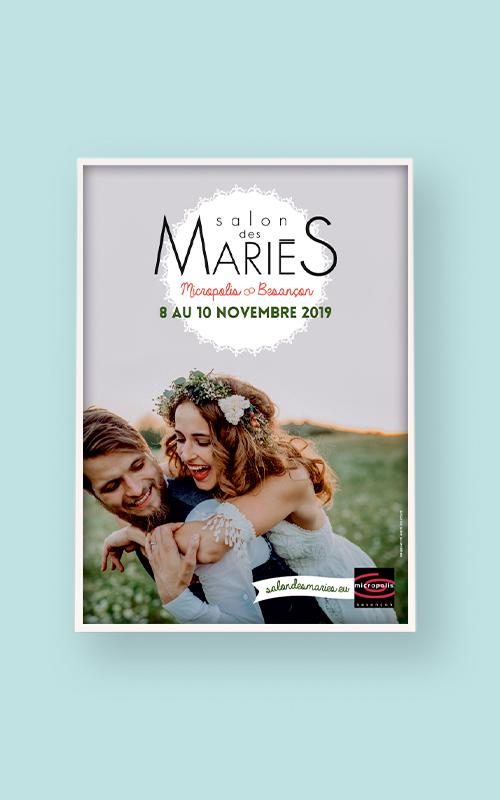 Création d'une affiche pour le salon des mariés