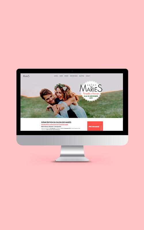 Création d'un site internet pour le Salon des mariés