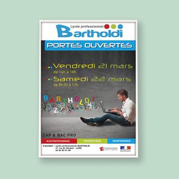 Création d'une affiche pour le Lycée Bartholdi