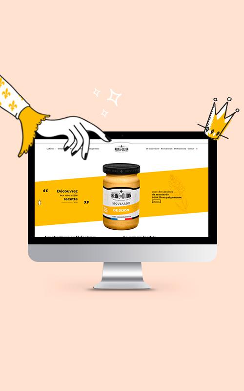 Création d'un site internet vitrine pour Reine de Dijon
