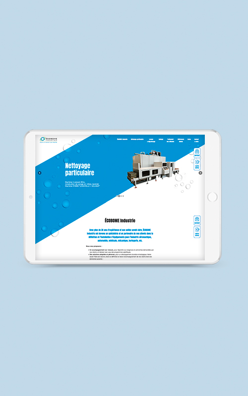 Création d'un site web pour ECOBOME Industrie