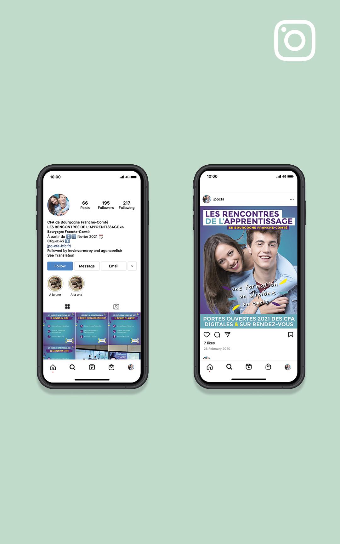 Création d'un compte Instagram pour les rencontres de l'apprentissage en BFC