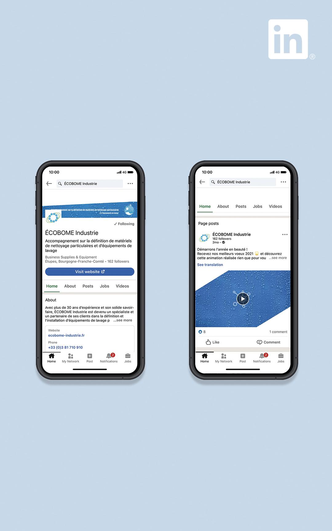 Création d'un compte LinkedIn pour Ecobome